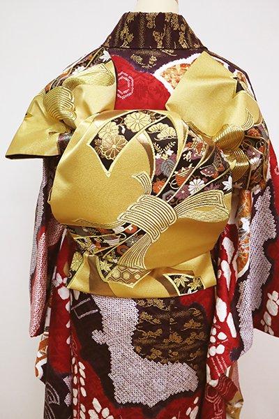 銀座【L-5068】袋帯 金色 束ね熨斗文