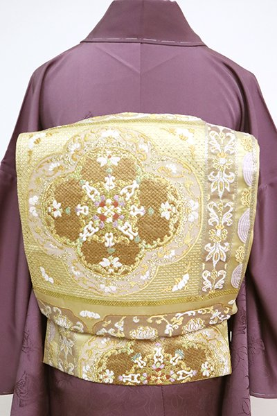 あおき【L-5069】刺繍 袋帯 金色 装飾文