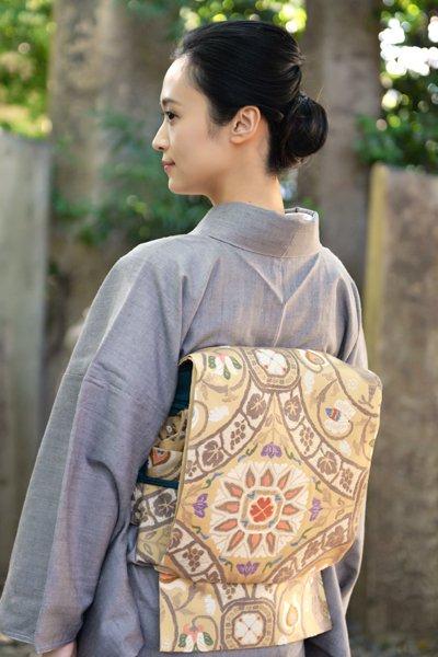 銀座【帯3339】西陣 帯屋捨松製 袋帯 (西陣証紙付)