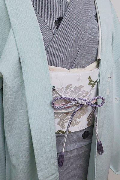 【G-1579】京都衿秀 羽織紐 丸組 薄鼠色 暈かし(新品)