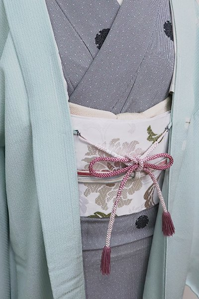 銀座【G-1580】京都衿秀 羽織紐 丸組 京紫色 暈かし(新品)