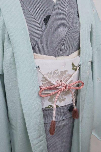 銀座【G-1581】京都衿秀 羽織紐 丸組 長春色 暈かし(新品)