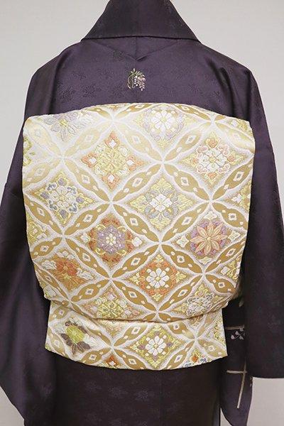 銀座【L-5083】袋帯 金色 七宝華文