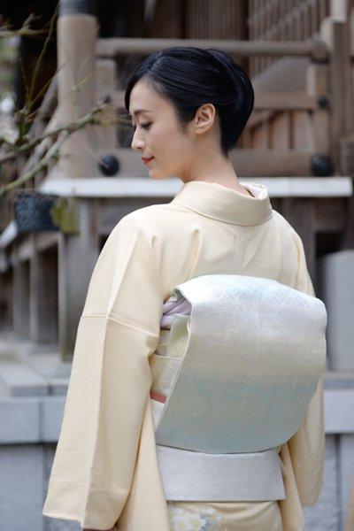 銀座【帯3341】西陣 桝屋高尾製 針ねん金 袋帯 (反端証紙付)