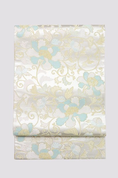 銀座【帯3348】西陣 河合美術織物製 袋帯