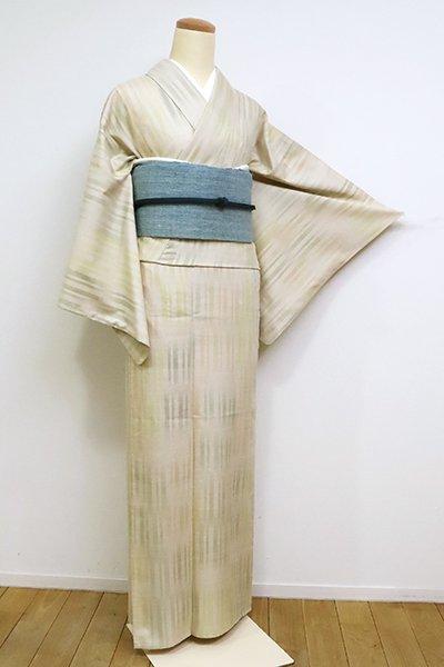 銀座【A-3093】(S)単衣 紬 蒸栗色 竪絣