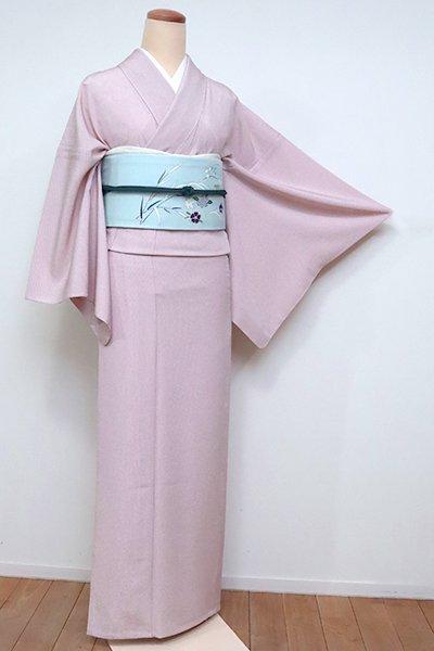 あおき【C-1883】単衣 江戸小紋 水柿色 万筋(反端付)(N)