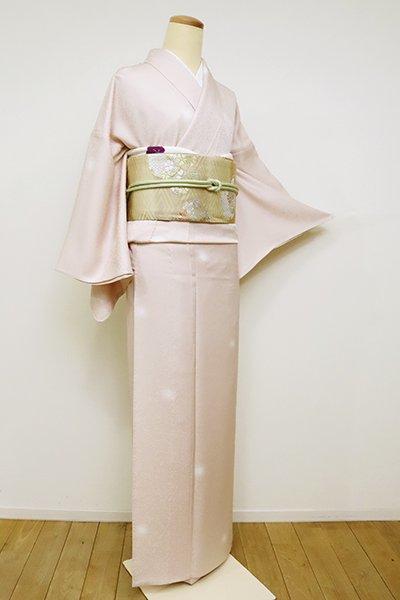 銀座【D-2520】単衣 小紋 灰桜色 蛍暈かし(反端付)(N)