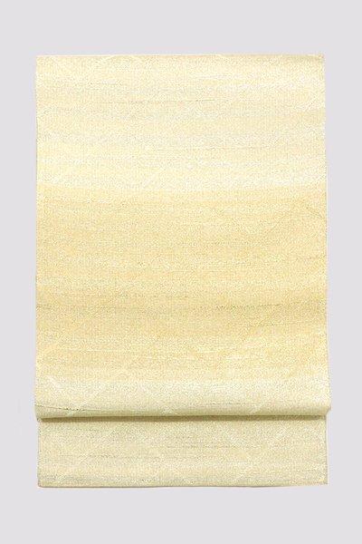 銀座【帯3351】西陣 桝屋高尾製 ねん金綴錦 袋帯「名物聚文中桧垣」