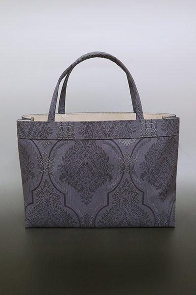 【G-1605】京都衿秀 トートバッグ 青褐色 欧風装飾文