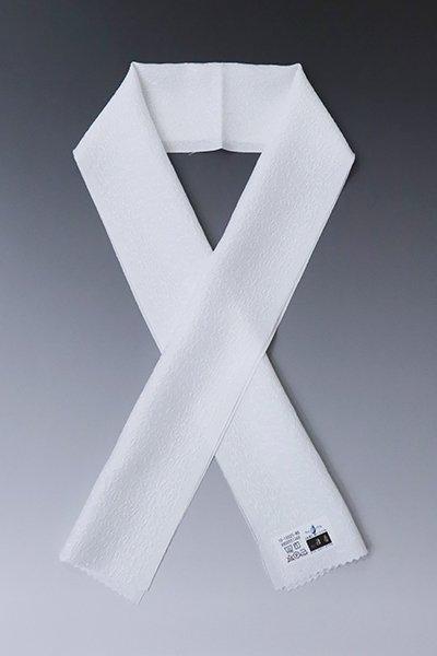 【G-1610】京都衿秀 ウォッシャブル正絹半衿 白色 唐草文