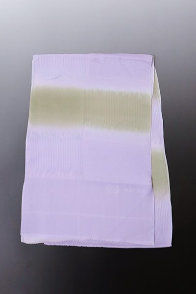 【G-1617】京都衿秀 夏 帯揚げ 二色段暈かし 白藤色×白橡色