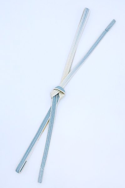 【G-1623】京都衿秀 帯締め 綾竹組 薄花色×鳥の子色 暈かし