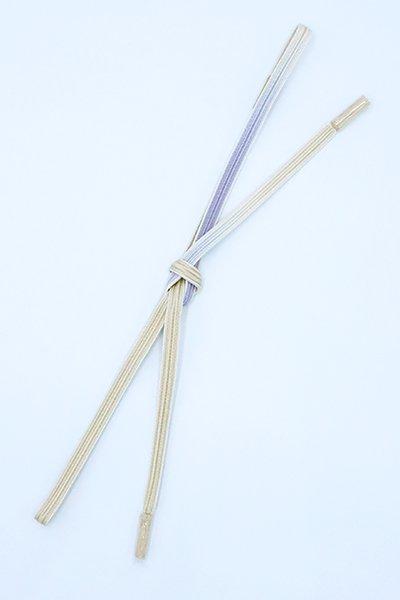 【G-1625】京都衿秀 帯締め 綾竹組 白藤色×蜂蜜色 暈かし