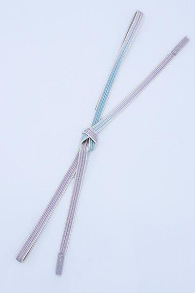 【G-1626】京都衿秀 帯締め 綾竹組 白藤色×水色 暈かし