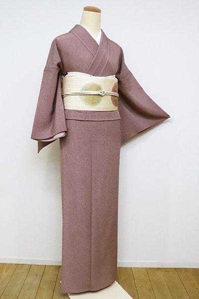 あおき【C-1885-2】単衣 江戸小紋 蘇芳香色 鮫(反端付)(N)