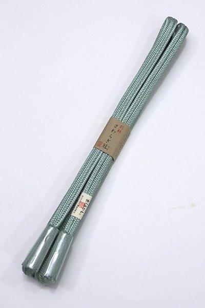 【S-764】京くみひも 正絹 帯締め 冠組 浅縹色(新品)