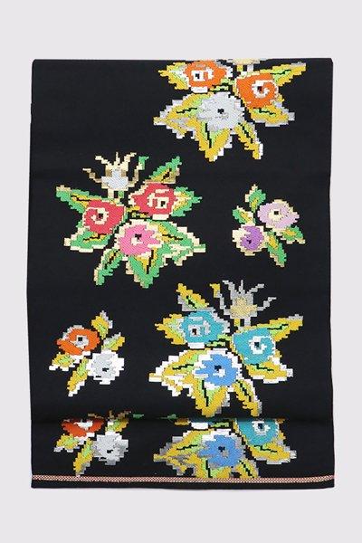 銀座【帯3368】たつむら製 本袋帯 銘「東欧花卉文」