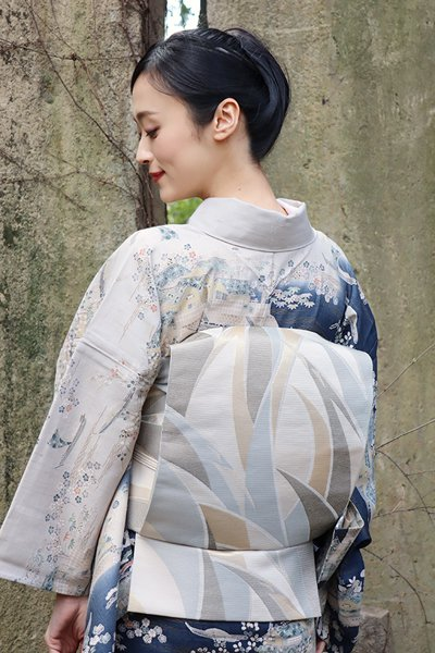 銀座【帯3375】西陣 川島織物製 絽 本袋帯