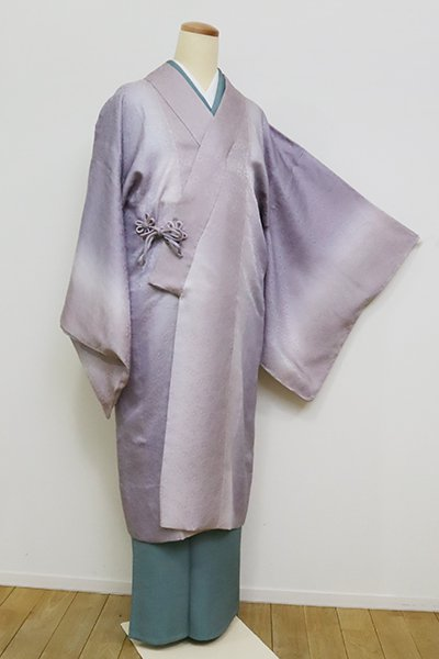 銀座【E-1253】紋紗 道中着 藤色濃淡 暈かし
