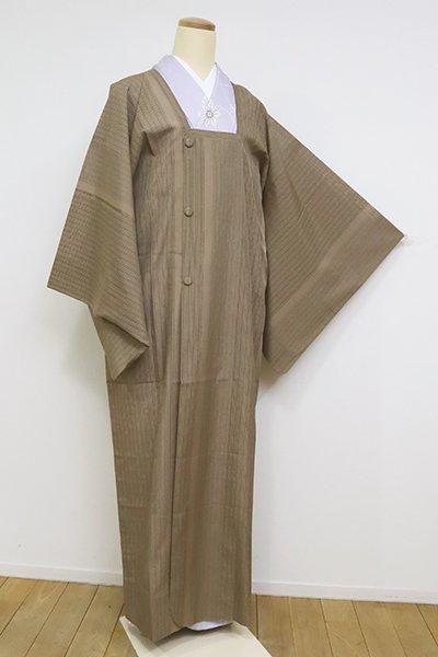銀座【E-1255】薄物 道行コート 榛色 細縞