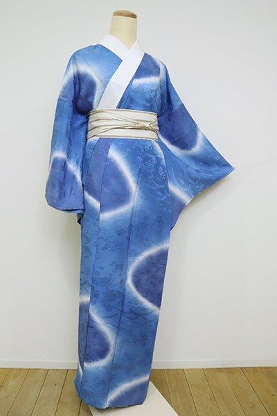 あおき【F-445】(L・広め)長襦袢 紺瑠璃色 流線暈かし