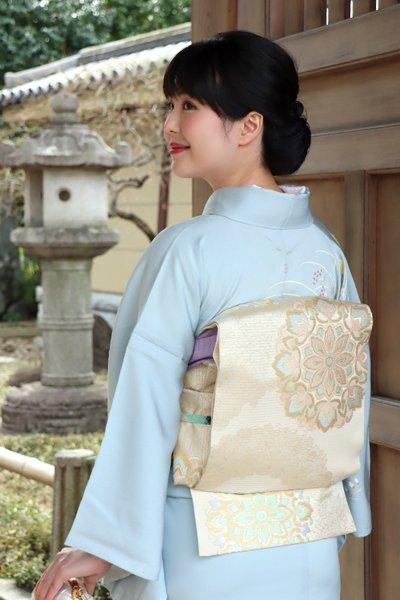 銀座【帯3385】西陣 川島織物製 絽 本袋帯