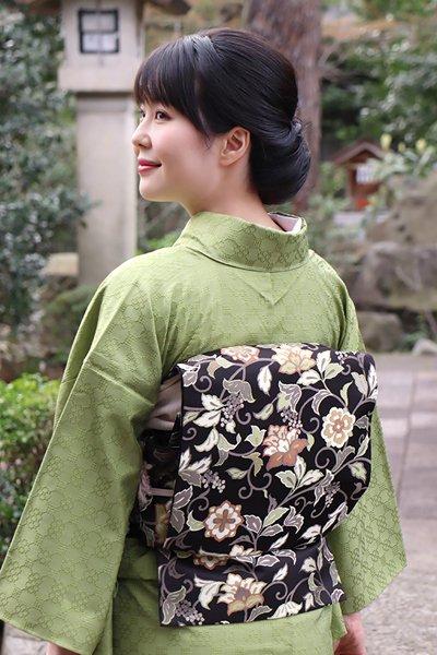 銀座【帯3404】西陣 川島織物製 袋帯 (反端・西陣証紙付・三越扱い)