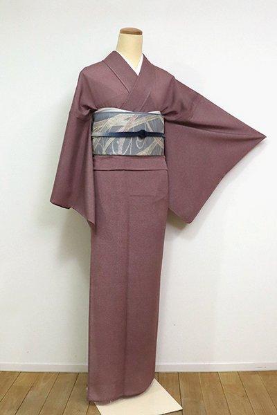 あおき【C-1898】絽 江戸小紋 鮫 葡萄茶色 (反端付) (N)