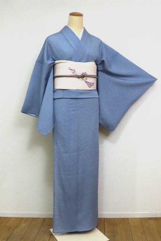 あおき【C-1905】絽 江戸小紋 鮫 薄縹色 (反端付) (N)