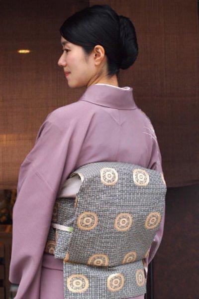 銀座【帯3392】龍村晋製 袋帯「名物糸屋金襴」