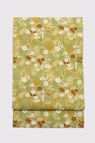 銀座【帯3414】西陣 川島織物製 本袋帯 銘「風雅花鳥文」(西陣証紙付)