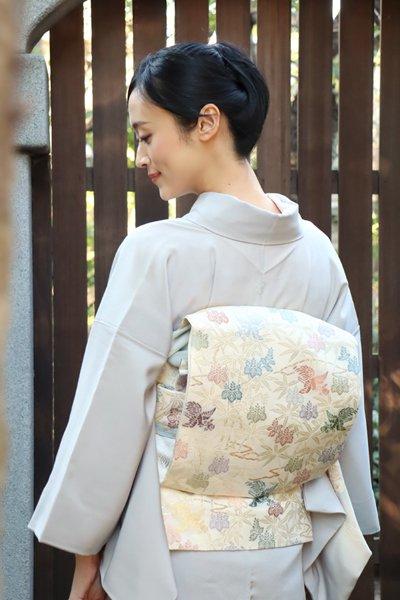 銀座【帯3415】西陣 紋屋井関製 袋帯 (栞付)
