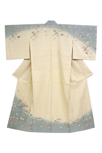 【着物2811】京都しょうざん製 単衣 生紬地訪問着 (西武扱い)