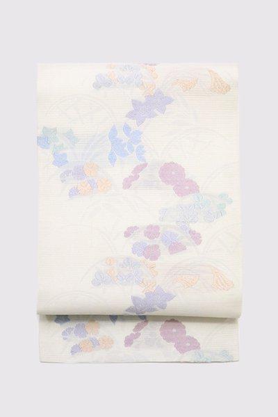 銀座【帯3420】西陣 川島織物製 夏名古屋帯 (N)