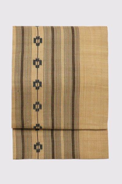 【帯3422】国指定重要無形文化財 喜如嘉の芭蕉布 九寸名古屋帯
