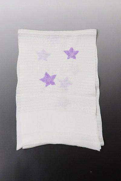 【G-1707】京都衿秀 絽 帯揚げ 輪出し絞り 星 藤紫色