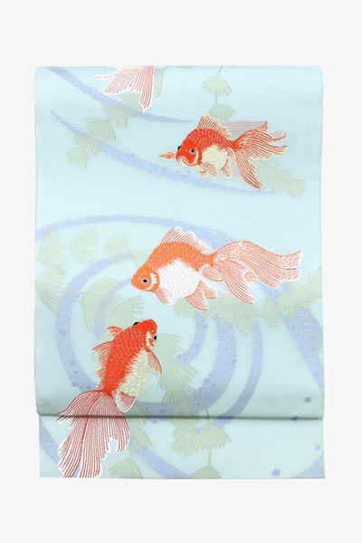 あおき【帯3437】西陣 山口美術織物製 絽袋帯 (反端証紙付)