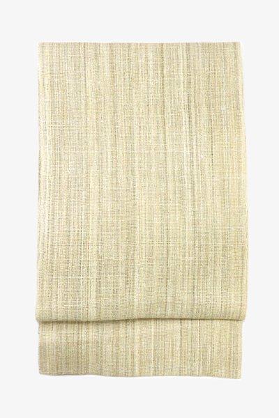 銀座【帯3447】からむし織 八寸名古屋帯 (畳紙・反端栞付)