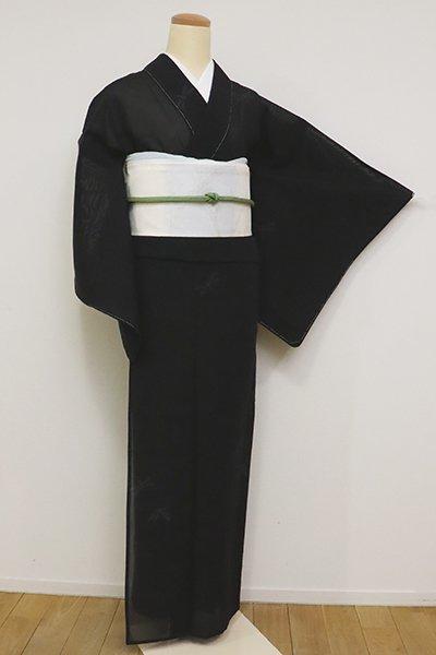 あおき【A-3144】紗紬 黒色 蜻蛉の図