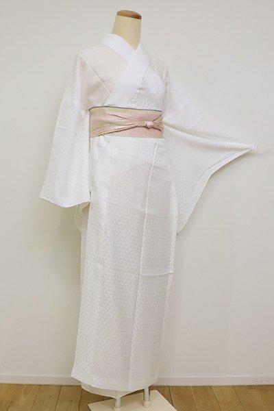銀座【F-464】(広め)紋紗 長襦袢 白色 鱗文
