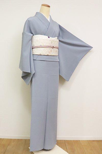 銀座【C-1923】(S・広め)単衣 染一ッ紋 色無地 藍鼠色
