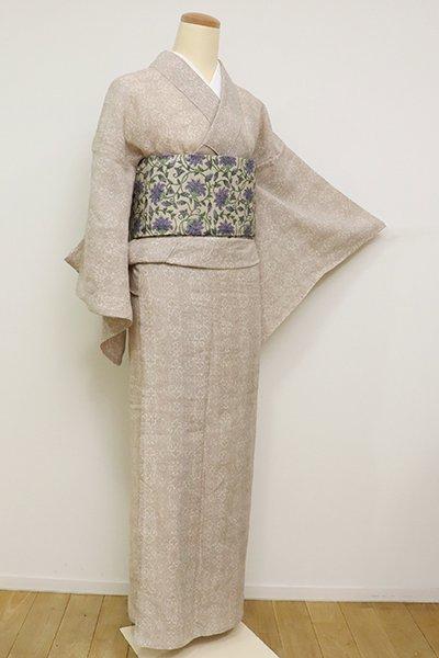 【A-3164】(S・細め)麻上布 洗柿色 装飾文