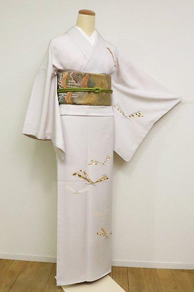 銀座【B-2666】付下げ 桜色 松葉の図 (反端付)(N)