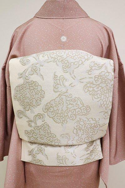 銀座【L-5182】袋帯 象牙色 花唐草文