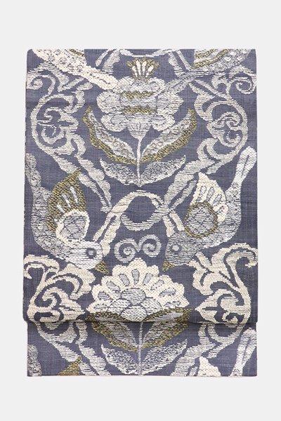 銀座【帯3502】西陣 渡文製 洒落袋帯「波衣」 (反端・西陣証紙付)