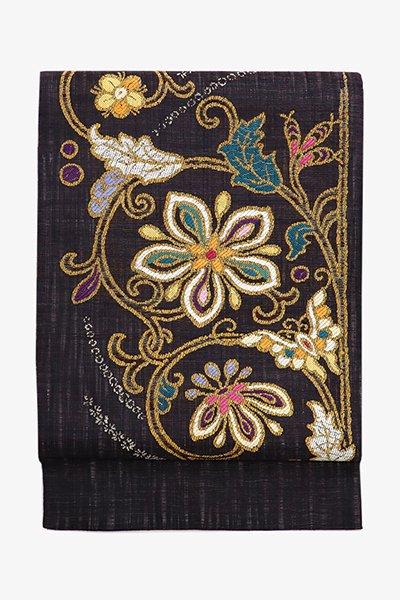 銀座【帯3507】西陣 渡文製 洒落袋帯「波衣」(反端・西陣証紙付)