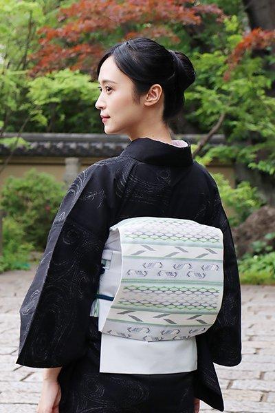 銀座【帯3509】南風原花織 名古屋帯 (反端証紙付)