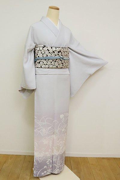 銀座【FR081-B-2683】(S・広め)付下げ 白花色 葡萄や秋草の図