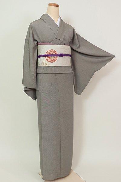 【C-1929】単衣 両面染 江戸小紋 山鳩色 万筋